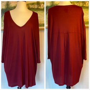 i Jeans by Buffalo NWOT Burgundy Tunic/Dre…